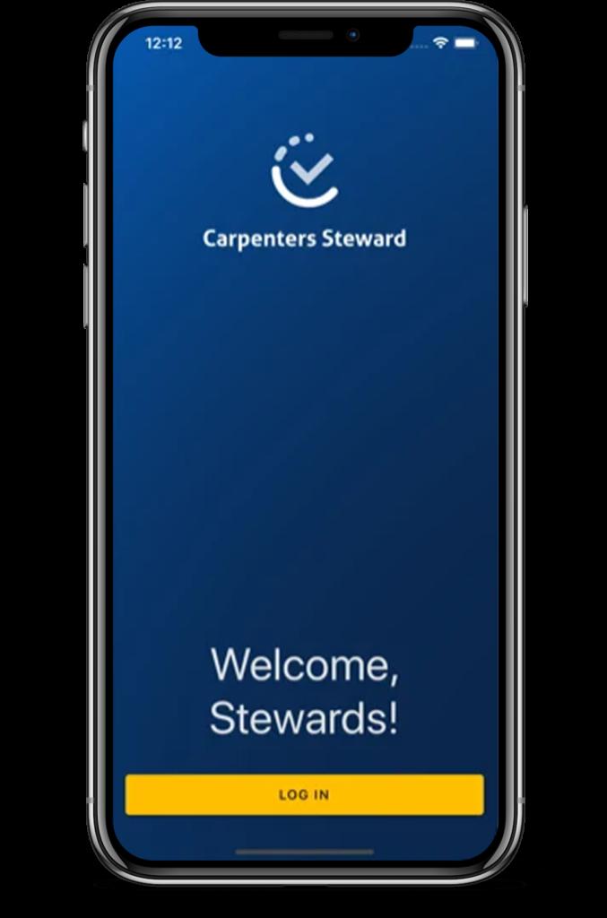 steward app screen on phone